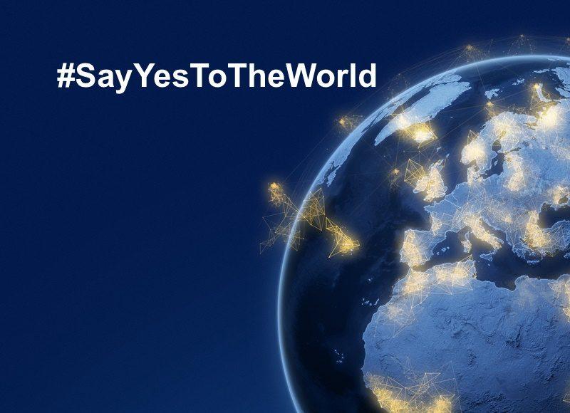 #SayYesToTheWorld