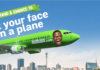 Face on a plane