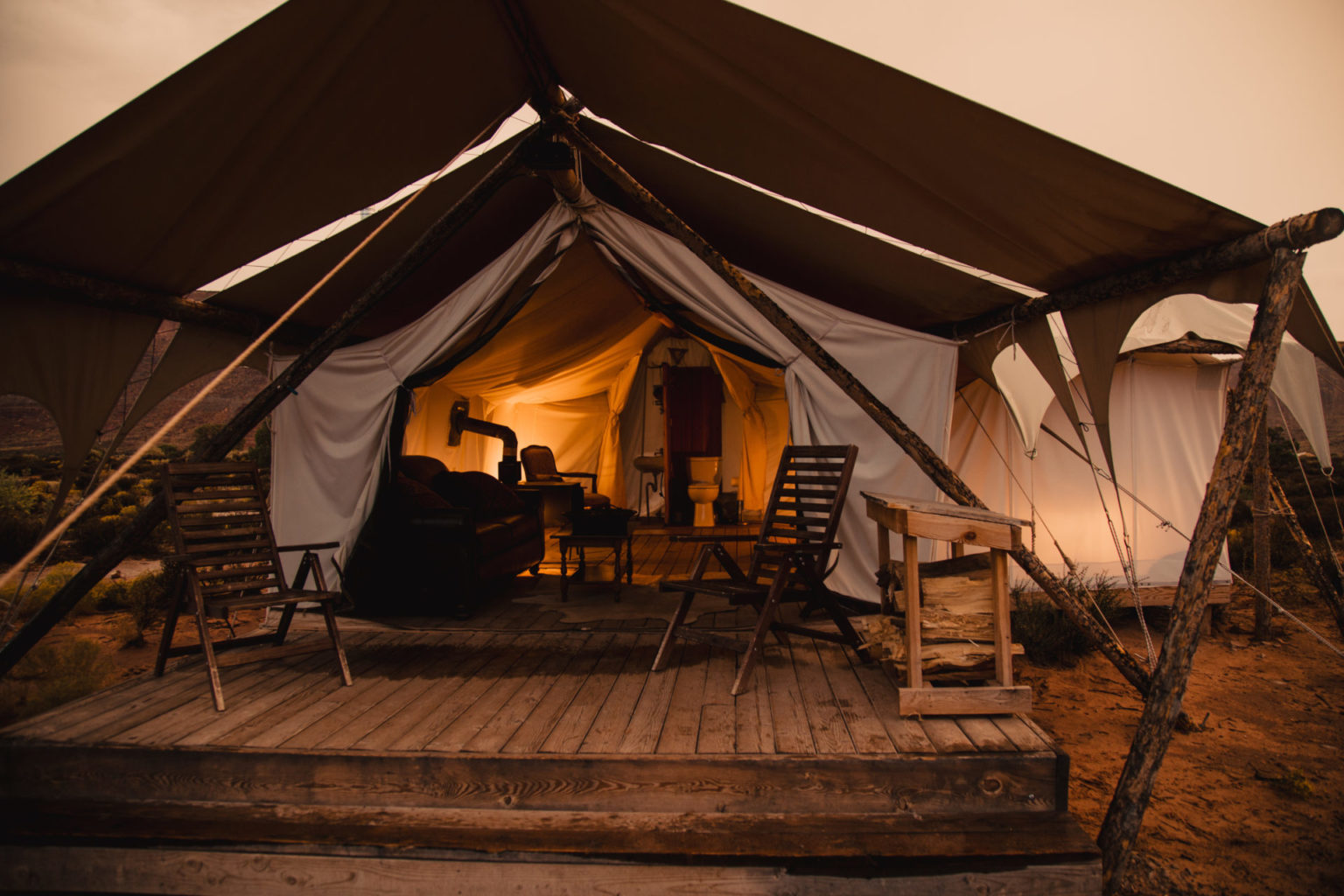 Glamping on a homegrown holiday